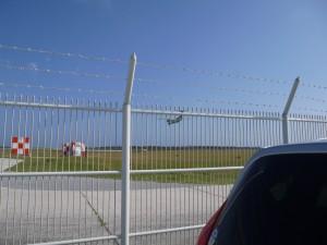 下地島空港 飛行機着陸5