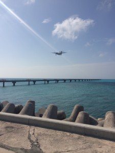下地島空港 飛行機着陸2